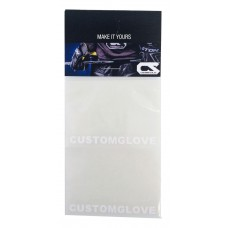 CUSTOMGLOVE® White text for 2-pair of gloves.